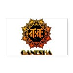 Ganesha bonji Rectangle Car Magnet