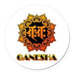 Ganesha bonji Round Car Magnet