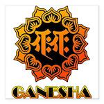 Ganesha bonji Square Car Magnet 3