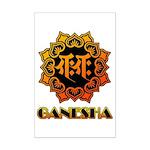 Ganesha bonji Mini Poster Print