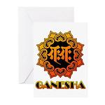 Ganesha bonji Greeting Cards (Pk of 10)