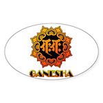 Ganesha bonji Sticker (Oval)