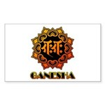 Ganesha bonji Sticker (Rectangle)