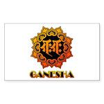 Ganesha bonji Sticker (Rectangle 50 pk)