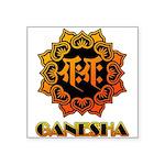Ganesha bonji Square Sticker 3