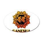 Ganesha bonji 20x12 Oval Wall Decal