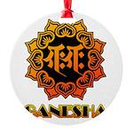 Ganesha bonji Round Ornament