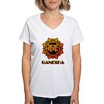 Ganesha bonji Women's V-Neck T-Shirt