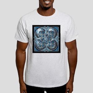 Silver & Blue Celtic Tapestry Light T-Shirt