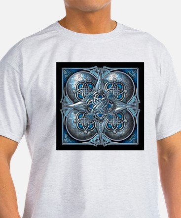Silver & Blue Celtic Tapestry T-Shirt