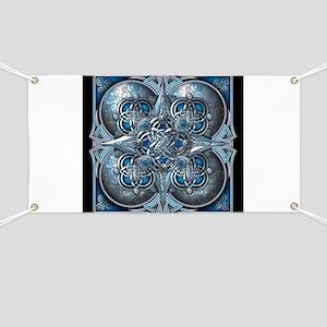 Silver & Blue Celtic Tapestry Banner