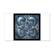 Silver & Blue Celtic Tapestry Wall Decal