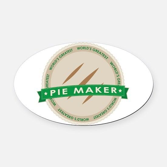 Apple Pie Maker Oval Car Magnet