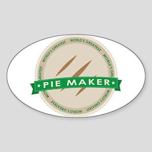Apple Pie Maker Sticker (Oval)