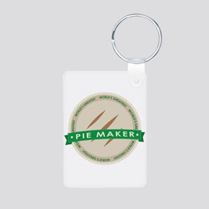 Apple Pie Maker Aluminum Photo Keychain