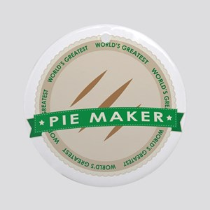 Apple Pie Maker Ornament (Round)
