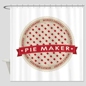 Cherry Pie Maker Shower Curtain