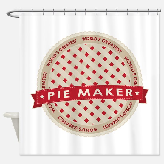 Cherry Pie Maker Shower Curtain