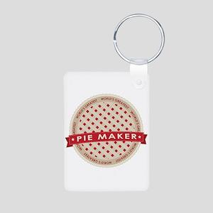 Cherry Pie Maker Aluminum Photo Keychain