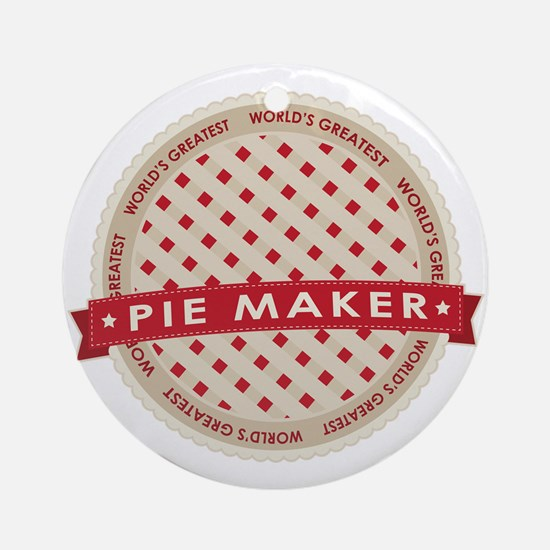Cherry Pie Maker Ornament (Round)