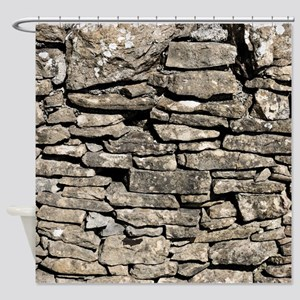 Old Stone Wall 1 Shower Curtain