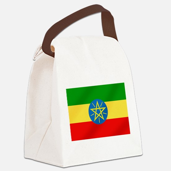 Flag of Ethiopia Canvas Lunch Bag