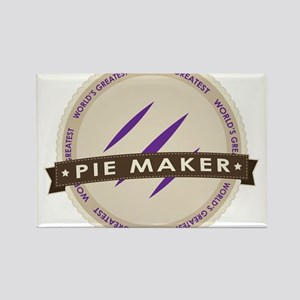 Plum Pie Maker Rectangle Magnet