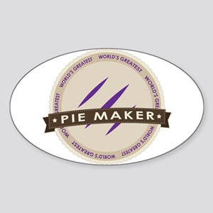 Plum Pie Maker Sticker (Oval)