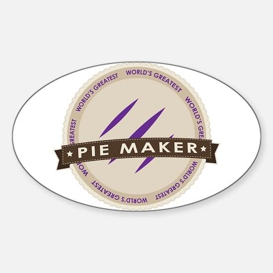 Plum Pie Maker Sticker (Oval)