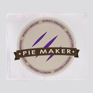 Plum Pie Maker Throw Blanket