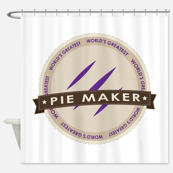 Plum Pie Maker Shower Curtain