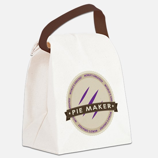 Plum Pie Maker Canvas Lunch Bag