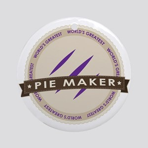 Plum Pie Maker Ornament (Round)