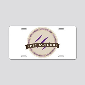 Plum Pie Maker Aluminum License Plate