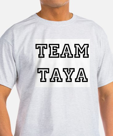 TEAM TAYA T-SHIRTS Ash Grey T-Shirt