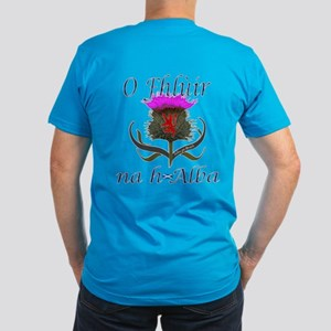 Red Tartan Thistle Christmas Men's Fitted T-Shirt