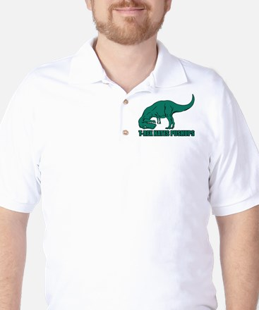 T-Rex Hates Pushups Golf Shirt