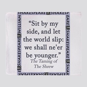 Sit By My Side Throw Blanket