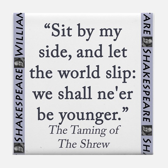 Sit By My Side Tile Coaster