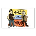 Nerds With Words Sticker