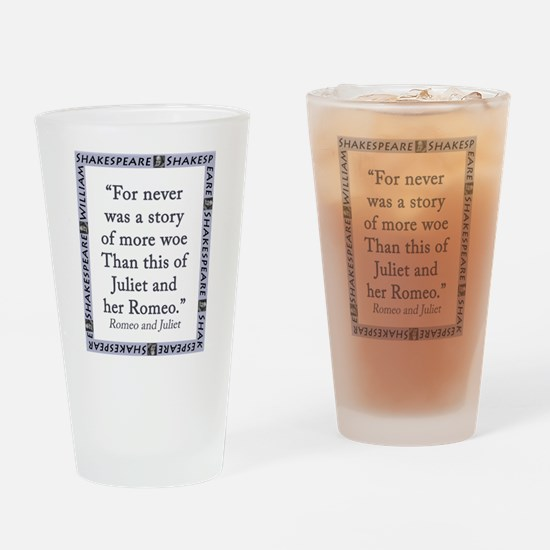 For Never Was a Story Drinking Glass