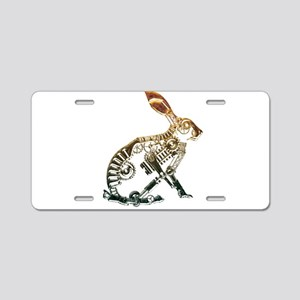 Industrial Hare Aluminum License Plate