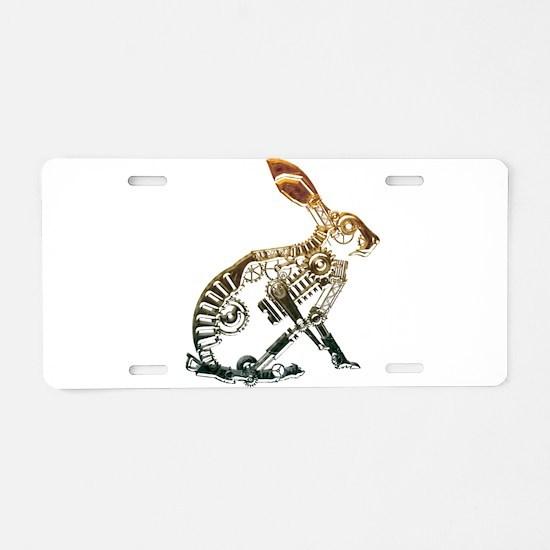 Industrial Hare Aluminum License Plate
