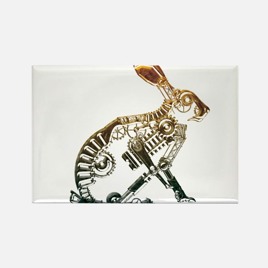 Industrial Hare Rectangle Magnet