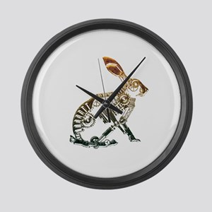 Industrial Hare Large Wall Clock