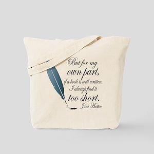 Jane Austen Book Quote Tote Bag