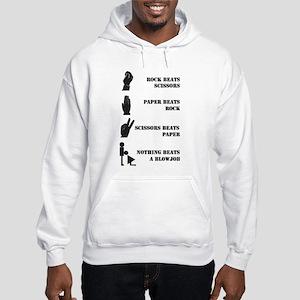 Rock Paper Scissors Blowjob Hooded Sweatshirt