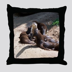 otters5 Throw Pillow