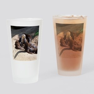 otters5 Drinking Glass