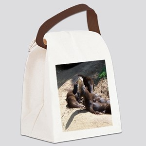 otters5 Canvas Lunch Bag